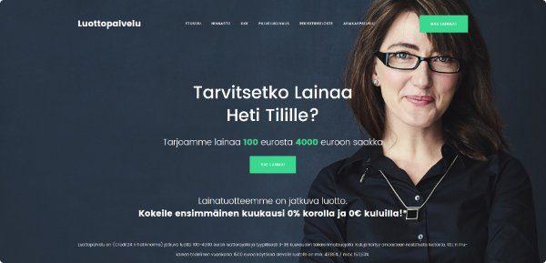 Luottopalvelu.fi verkkosivusto