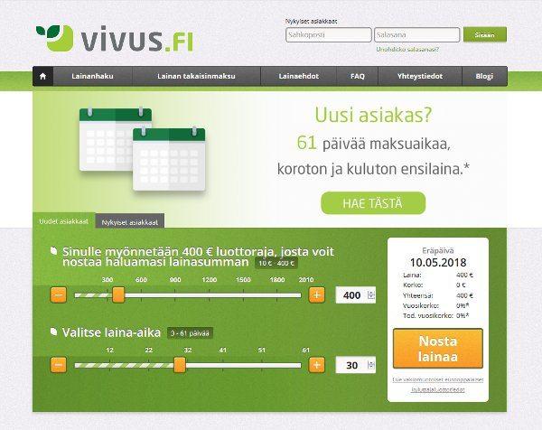 Vivus.fi verkkosivusto